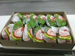 We sell packaged, frozen chicken carcass for export.