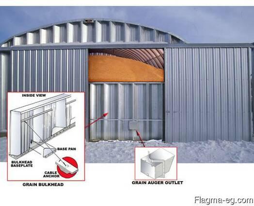 Зернохранилища напольного типа фермерские и припортовые