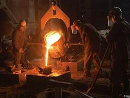 Induction furnace for melting 500 kg of steel